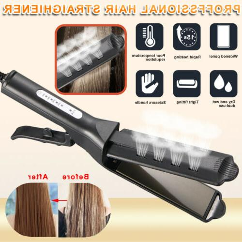 New Four Gear Ceramic Tourmaline Ionic Flat Iron Hot Hair St