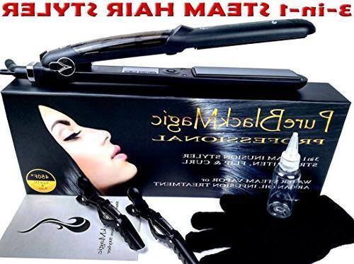 steam ceramic hair straightener flat