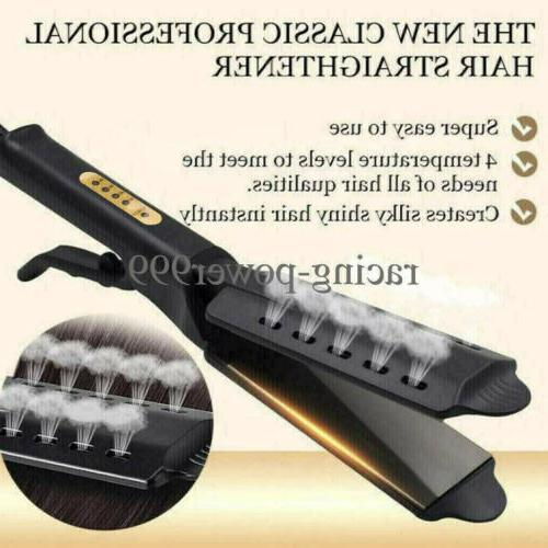 Four Ceramic Tourmaline Ionic Iron Hair Straightener New