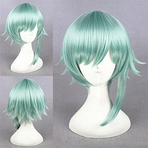 synthetic mint green hair short