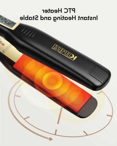 KIPOZI Pro Styler Plate Flat Iron LCD Display