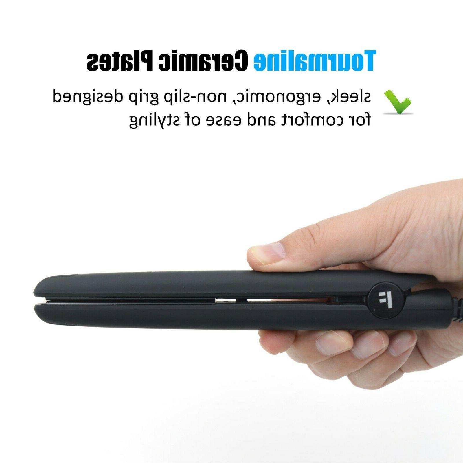 Travel Mini Iron Dual 1/2 Inch Ceramic Tourmaline Hair