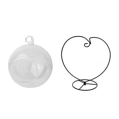 Various Hanging Glass Ball Tea Light Candle Holder Flowerpot