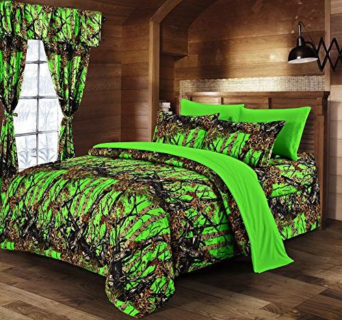 woods bio hazard green camouflage
