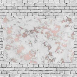 La Random Abstract Marble With Rose Gold Wall Tapestry Hangi