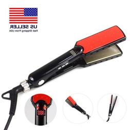 LCD Wide plates Flat Iron Straightening Irons Styling Tools
