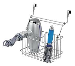 mDesign Over-Cabinet Hair Care Tools Basket for Hair Dryer,