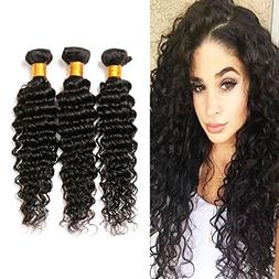 Malaysian Deep Wave Bundles 3 Pieces 100% Unprocessed Indian