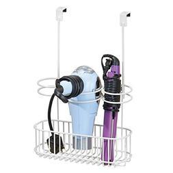 mDesign Over Door Bathroom Hair Care & Styling Tool Organize