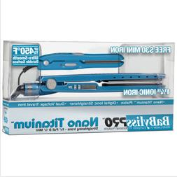 450 LED 1.25 BLUE FREE MINI TRAVEL FLAT IRON SET BABYLISS PR