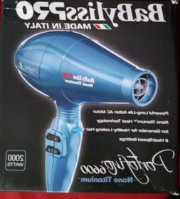 BaByliss Pro Nano Titanium Blue 2000W Portofino 6600 Hair  D