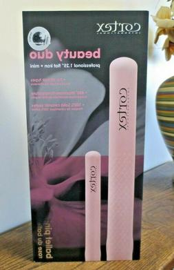 "New! Cortex Beauty Duo Ballet Pink 1.25"" Flat Iron + Mini"