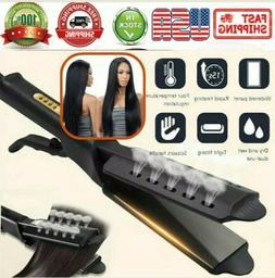NEW Four Gear Ceramic Tourmaline Ionic Flat Iron Hot Hair St