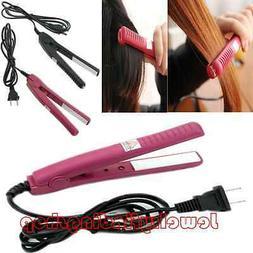 New Portable Mini Ceramic Hair Care Curl Straightener Flat I