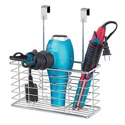 mDesign Farmhouse Metal Wire Bathroom Over Cabinet Door Hair