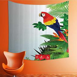 Nalahomeqq Parrots Decor Collection Macaw Bird in the Tropic