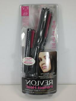 "Revlon Perfect Heat Straight 1"" Ceramic Flat Iron w/ Bonus 1"