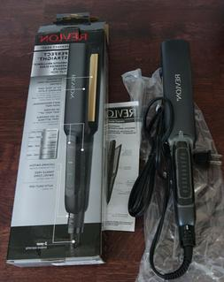 "Revlon Perfect Straight Smooth Brilliance 1.5"" flat iron Adv"