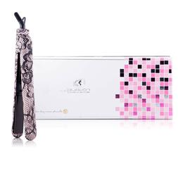Royale Pink Lace Flat Iron Hair Straightener with 100% Ceram
