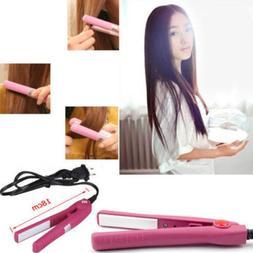 Portable New Mini Ceramic Hair Care Curl Straightener Flat I