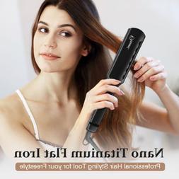 Pro Flat Iron Hair Straightener Tools Style Maker Adjustable