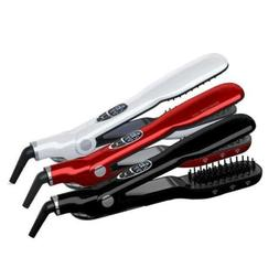 Pro Hair Straightener Steam Brush Flat Iron Comb Haircare St