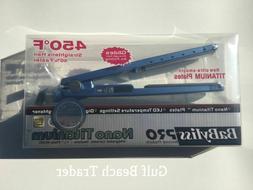 pro nano titanium blue flat straightening iron