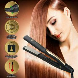 Professional 3D Hair Straightener Salon Steam Flat Iron Stra
