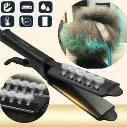 professional glider steam hair straightener ionic flat