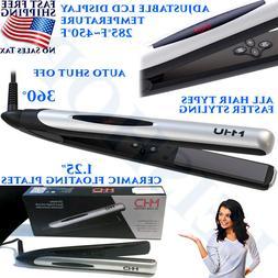 2 IN 1 PROFESSIONAL HAIR STRAIGHTENER CURLER FLAT IRON SALON