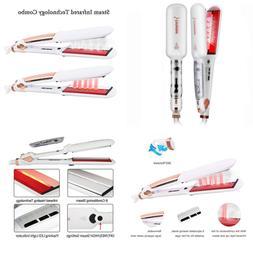 DORISILK Professional Infrared Steam Flat Iron Hair Straight