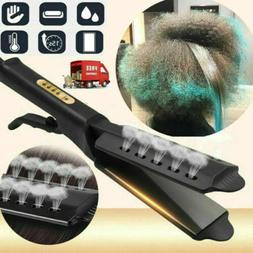 Professional Glider Steam Hair Straightener Ionic Flat Iron