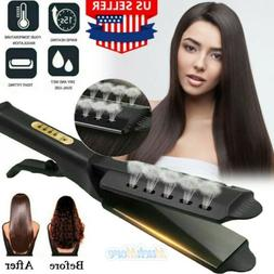 Professional Steam Hair Straightener Ceramic Tourmaline Ioni