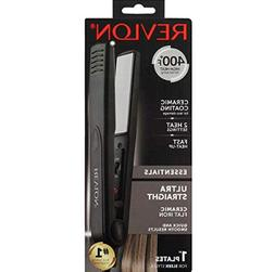 Revlon Ceramic Flat Iron for Ultra Straight Hair,1 Inch