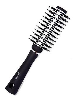 Round Barrel Ceramic Hair Brush - Natural Boar Bristles for