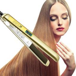 salon hair straightener pro titanium ion plates