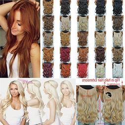 secret halo hair extensions flip curly wavy extension synthe