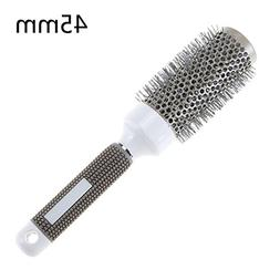 1 Set Combs Hair Brush Ceramic Iron Round Comb Barber Dressi