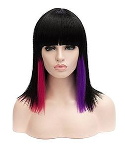 Rabbitgoo Short Mid-Length Shoulder Wig Sexy Multi-Colored H