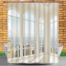 Homenon Multicolor Shower Curtain by, Modern Decor,Big White