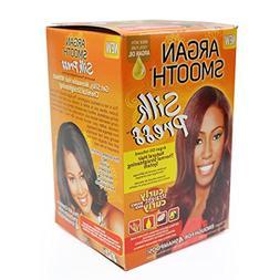 Argan Smooth Silk Press, Natural Hair Straightening System,