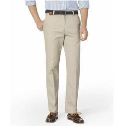 IZOD Slim Fit American Chino Flat Front Pant 30x32, Khaki
