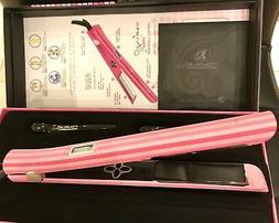 Royale Smart Digital-Pink Stripes 100% Titanium Flat Iron/Ha