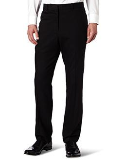 Perry Ellis Men's Solid Slim Fit Pant, Black, 34x29