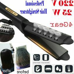 Steam Ceramic Tourmaline Ionic Flat Iron Hair Straightener P