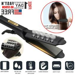 Steam Hair Straightener Ceramic Tourmaline Ionic Flat Iron P
