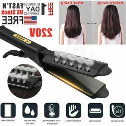 Steam Hair Straightener Flat Iron Ceramic Tourmaline Ionic P