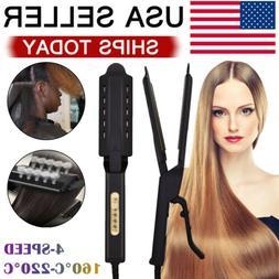 Steam Hair Straightener Four Gear Ceramic Tourmaline Ionic F