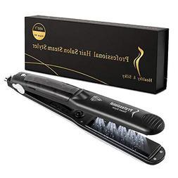 Steam Hair Straighteners 2 in 1 Professional Spray Steam Cur