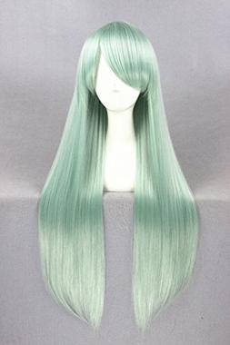 "Prettybuy 31"" Women's Synthetic Mint Green Long Straight Hai"